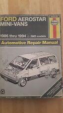-USED- Haynes Ford Aerostar Repair Manual 1986-1996 Mini-Vans #36004 1476