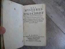 Livre ancien Les Mystères de Jesus-Christ 1770 chez Mérigot