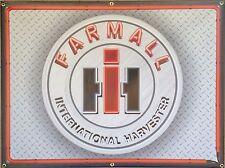 FARMALL INTERNATIONAL HARVESTER TRACTOR NEON STYLE BANNER SIGN ART 4' X 3'