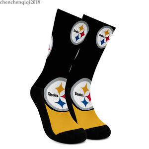 Pittsburgh Steelers Soft Socks One Pair Comfortable to wear Fans Crew Socks Gift