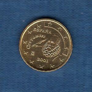 Espagne - 2001 - 10 centimes d'euro - Pièce neuve de rouleau -