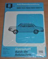 BMW 1500 1600 1800 1800 TI E115 E116 E118 Motor Getriebe Reparaturanleitung B110
