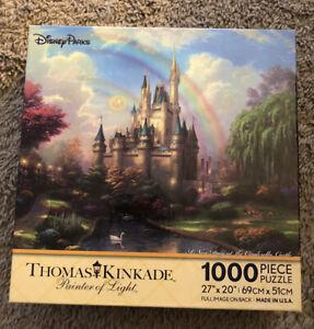 NEW Disney World Thomas Kinkade A New Day At The Cinderella Castle 1,000 Puzzle