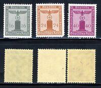 1938-42 Germany Nazi SCF1 3-STAMP Third Reich Hitler Swastika Deutsch WWII MNHOG