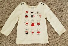 NWT Gymboree Girls Long Sleeve Olivia the Pig Shirt Buttons on Shoulders 2T