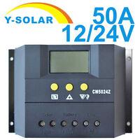 Solar Controller  50A 12V/24V Charge Regulator Timer and Light Control