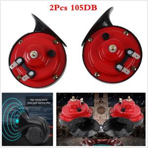 New 2Pcs Loud Dual-tone Snail Universal Electric Horn 12V 105dB Car Truck Auto