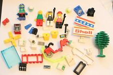 Vintage Lot LEGO City Police Tree Computer Flippers Moped Fence Helmet Racing