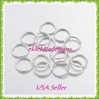10mm 50pcs Silver Plated Jump Rings Jewelry Findings Open Split Earring Necklace