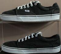 Vans Skater Lace Trainer Pumps - UK Size 9 - Black Canvas & White Sole - Mens
