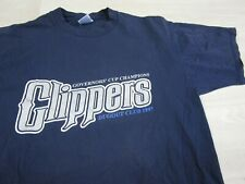 Vintage 1997 Columbus Clippers Baseball MILB Shirt Mens Large Made in USA Dugout