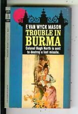 TROUBLE IN BURMA by Mason, Pocket #6211 spy crime Asian gga pulp vintage pb