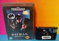 Batman Returns - Sega Genesis Rare Game Tested Box Cat Women Penguin