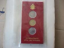 BOX 3 MONETE 1988 VATICANO GIOVANNI PAOLO II POPE PAPA LIRE £ 10 20 50