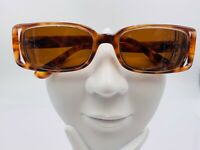 Versace 554 Tortoise Oval Sunglasses Italy FRAMES ONLY