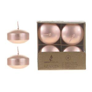 """Mega Candles - Unscented 2"""" Floating Disc Candles - Rose Gold, Set of 12"""