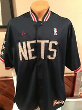 fa5a8fee31db AWESOME New Jersey Nets Men s Sz XL Blue Nike Game Style Warm Up