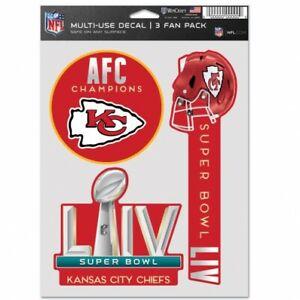 Kansas City Chiefs Super Bowl Champions Decal sheet MULTI USE -