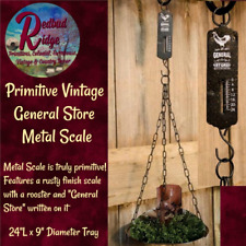 Primitive Rustic Country General Store Rooster Weighing Scale Farmhouse