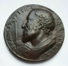 KING FRANCIS I  FRENCH 95 mm NUMBERED PARIS MINT CAST BRONZE MEDAL