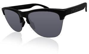 Oakley Frogskins Lite Matte Black Frame Grey Lens Sunglasses 0OO9374