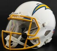LOS ANGELES CHARGERS NEW 2020 FULL SIZE FOOTBALL HELMET DECALS W//BUMPERS