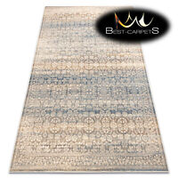 Exclusive NATURAL WOOL Rugs NAIN Ornament beige navy vintage soft best carpets