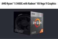 AMD Ryzen 5 3400G 4-core, 8-Thread Desktop Processor With Radeon RX Vega 11