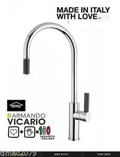 On Sale!Armando Vicario  Luz-1 Kitchen Sink Mixer Goose neck Pull-out Tap Chrome