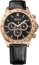 NEW HUGO BOSS HB 1513179 MENS ROSE GOLD IKON WATCH - 2 YEARS WARRANTY