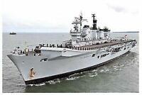 Postcard Royal Navy Aircraft Carrier HMS Illustrious, at Portsmouth, 2011 28D