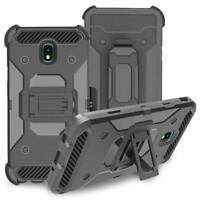 Shockproof Hybrid Holster Case Belt Clip Cover For Samsung Galaxy J7 2018/Crown