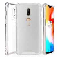 For OnePlus 6 Transparent Bumper Slim Lightweight Shockproof CLEAR Cover Case
