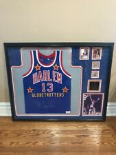 WILT CHAMBERLAIN Signed Jersey Deluxe Frame  Harlem 13 Authenticated