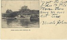 Cape Porpoise Stone Haven Hotel Tavern Private Mailing Card Pre-1908 Uncle John!