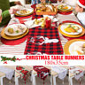 Christmas Holiday Table  Runner Flag Cushion Tablecloth Dinner Party Home Decor