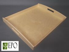 49cm x 40cm LARGE WOODEN BREAKFAST SERVING BED TRAY WITH HANDLES