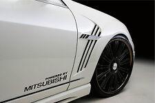 Powered by MITSUBISHI Sport Racing Decal sticker emblem logo BLACK Pair