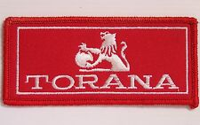 VINTAGE TORANA EMBROIDERED PATCH LARGE WOVEN CLOTH BADGE SEW-ON HOLDEN RACING