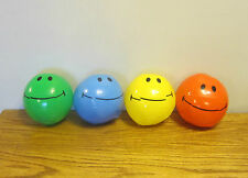 "4 NEW MINI SMILE FACE BEACH BALLS 7"" INFLATABLE POOL BEACHBALL PARTY FAVORS"