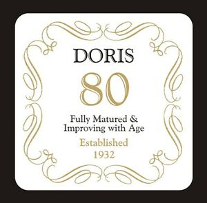 PERSONALISED 80 / 80th BIRTHDAY COASTER - BORN IN 1939 - ANY NAME - GIFT PRESENT