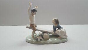 Lladro Boy & Girl on Seesaw 4867 Porcelain Figurines