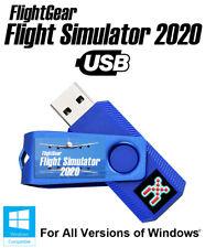 FlightGear USB Flight Simulator 2020 X Deluxe Pro Sim For Windows 10, 8.1, 7 PC