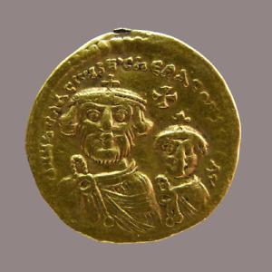 Byzantine Empire Gold Solidus Heraclius & Heraclius Constantine 610-41 Superb MS