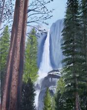 """ Yosemite Falls"" original oil on stretched canvas, 11 x 14"""
