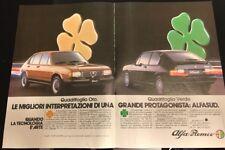 Pubblicità anni 80 Alfa Sud ALFA ROMEO Advertising