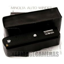 Minolta Auto Winder D for XD, XD5 XD7 XD-5 XD-7 with Case Instructions Batteries