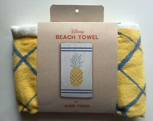 Brand New Disney Beach Towel 30 x 60 by Junk Food - Pineapple Yellow New w/Tags