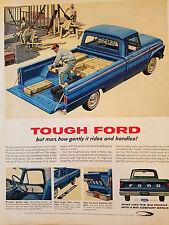 1964 Vintage Blue FORD Pick Up Truck Color Original Ad
