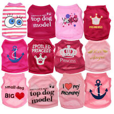 Princess Girl Puppy Dog Clothes Vest Summer Small Pet Cat Shirt for Yorkshire